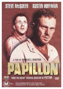Papillon-DVD-2001-McQueen-amp-Hoffman-Region-4-Like-New-Free-Postage