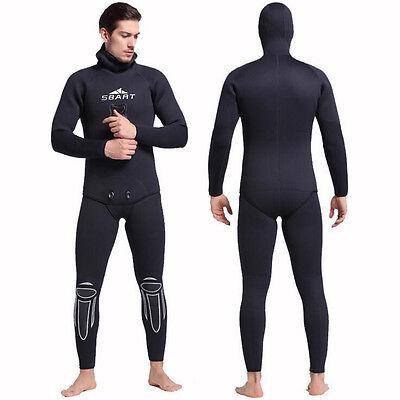 Mens 3mm 5mm Diving Suit Wetsuit Neoprene Black Two-piece Snorkeling Fishing