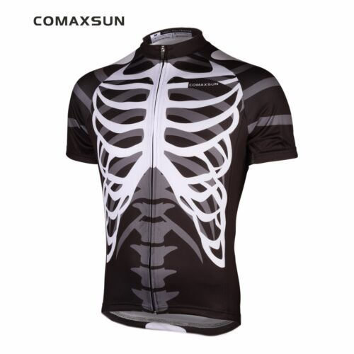 Men/'s Cycling Jersey Skeleton Bike Bicycle Shirts Sports Shirts Top S-3XL EOCJ06