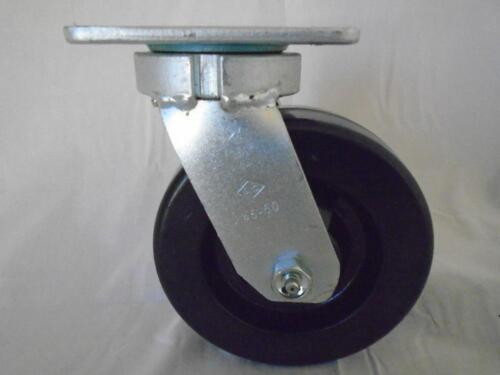 "6/"" x 2/"" Swivel Caster Kingpinless Phenolic Wheel 1200 lb Tool Box"