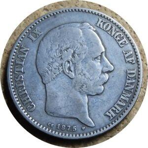 elf-Denmark-2-Kroner-1875-Silver-Christian-IX