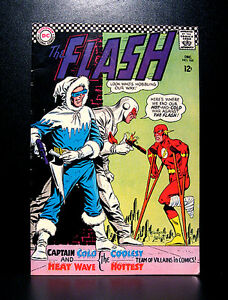 COMICS-DC-The-Flash-166-1966-Captain-Cold-amp-Heat-Wave-app-RARE-batman