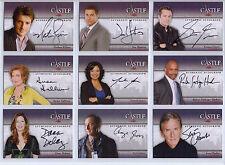 Castle 1 & 2 Master Set 25% Off - 14 Autographs, 42 Wardrobe, Chase, 158 Cards
