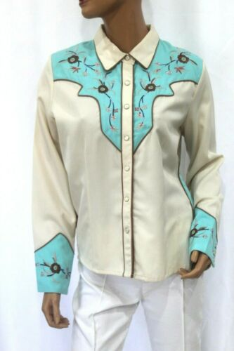 *VINTAGE* Scully~Women's Pearl Snap Western Shirt~