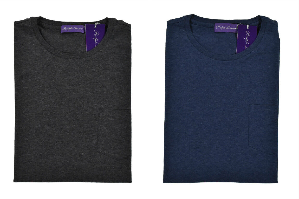 Ralph Lauren lila Label Baumwolle Tasche T-Shirt Neu