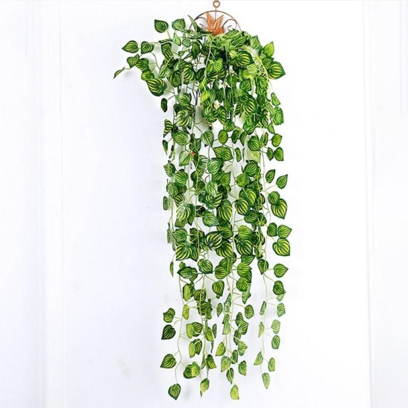 90cm Artificial Plants Ivy Leaves Seaweed Grape Flowers Vine Home Hanging Decor
