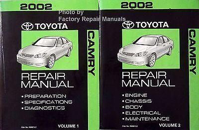 2002 Toyota Camry Factory Service Manual 2 Volume Set Original Shop Repair Books Ebay