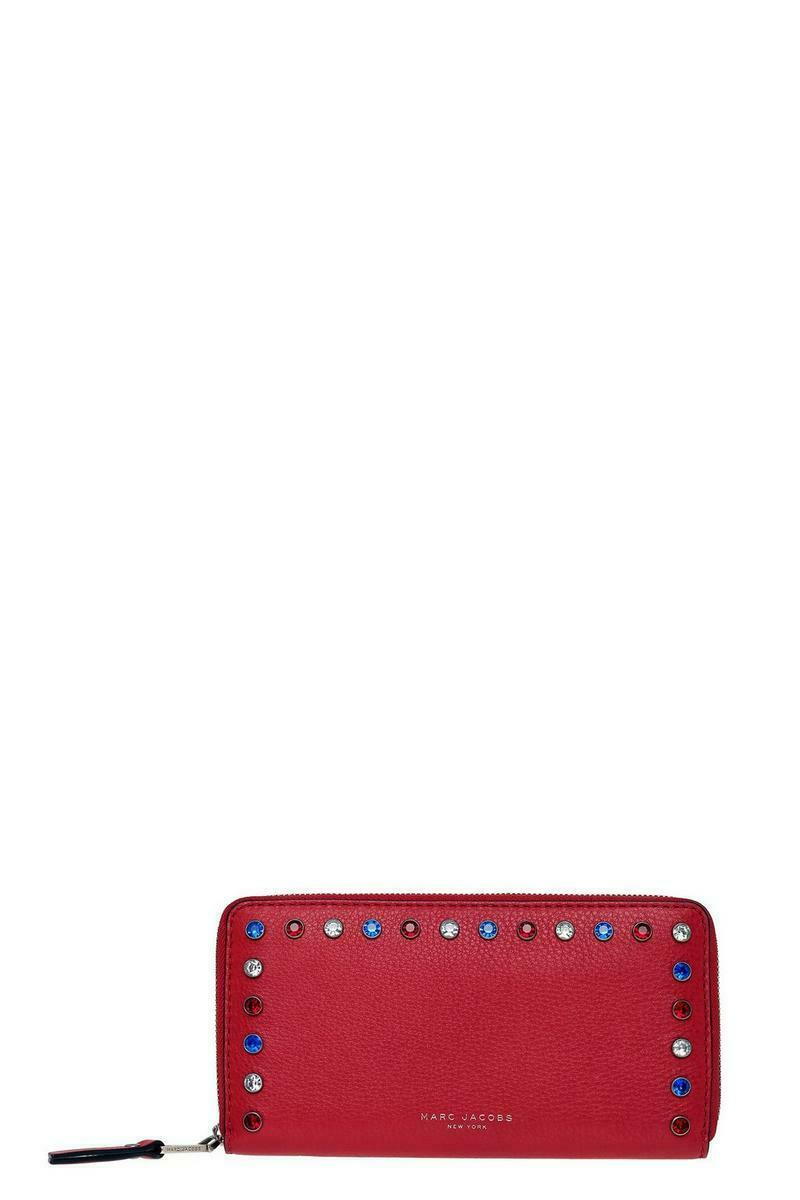 Marc Jacobs P.Y.T. Leather Continental Wallet in Brilliant Red