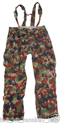 Genuine Swiss Army Alpine Camo Load bearing trousers - Super or Graded conditon