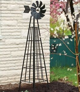 Merveilleux Image Is Loading Metal Garden Windmill Outdoor Yard Decor Large Wind