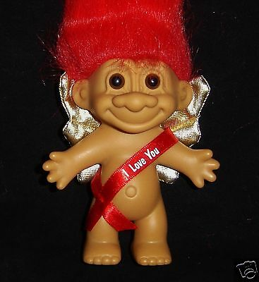 "VALENTINE I LOVE YOU THIS MUCH NEW STORE STOCK 3/"" Russ Troll Doll Last 1s"