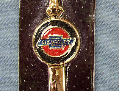 Rare B-10 Chevrolet Yellow Gold Chevy Crest Key NOS on Card 1947 1948 1949 1950