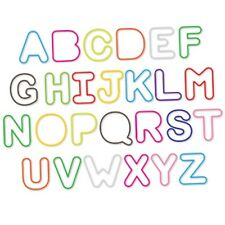 Silly Bandz ALPHABET Shapes NEW 36 Pack SALE Rubber Band Bracelets Multi-Color