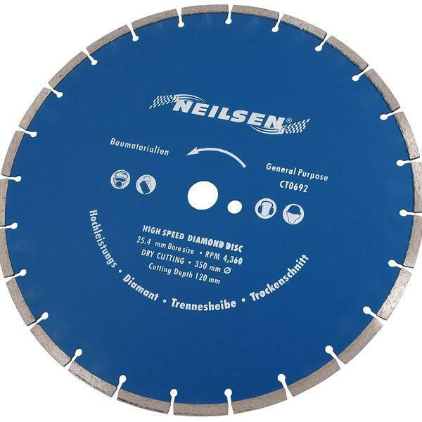 "14 "" - 350 mm Diamond Cutting Disc - concrete tiles stone brick masonry blue"