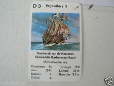 67-PIRATEN,PIRATES,D3 VRIJBUITERS II KORSAREN CHEIREDDIN BARBAROSSA AZOR RAMKARA