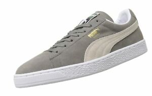 Image is loading PUMA-Adult-Suede-Classic-Shoe-Steeple-Gray-White- 3ce2e327a