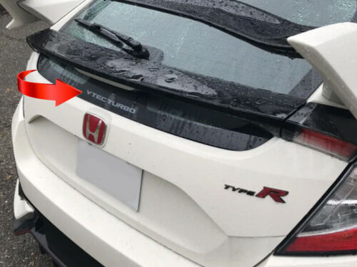 Genuine Honda Civic Type-R FK8 Trasero /'VTEC TURBO/' Adhesivo 2017 en adelante