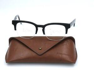 EyeBuyDirect LUXE Unisex Eyeglasses Frame, Semi Rimless Black 50-19-145 #I44