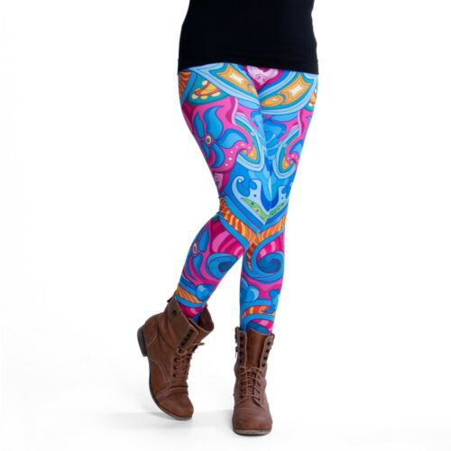 Pealu bunte bedruckte MANDALA Leggings Einheitsgröße bequem Damen