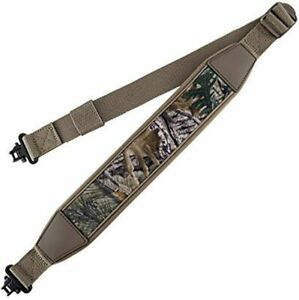 Camo-Tan-Rifle-Gun-Sling-Adjustable-Shoulder-Strap-with-Swivels-for-Hunting-New