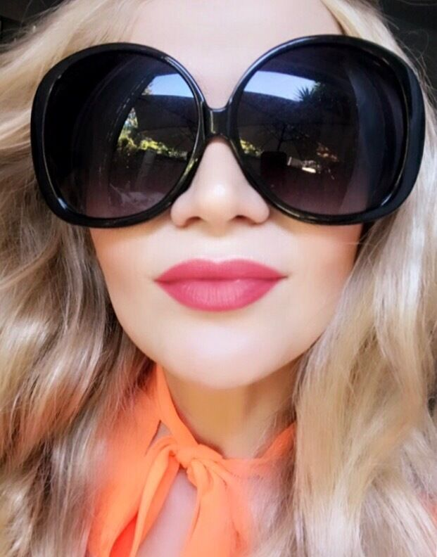 70s Huge Oversized XXL Square Oval Butterfly Jackie O Round Sunglasses Glasses L