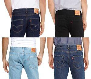 LEVIS Mens 501 Denim Jeans Lightwash Stonewash Black Indigo Onewash ... 1a6670423e