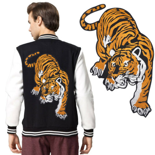 Veste jeans BIG Tigre brodé Applique sew iron on Cloth patch badge décoration