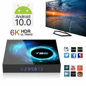 T95 Android 10.0 Smart TV Box Quad Core 6K HDR10 Dual WiFi Media Player US Z9E3