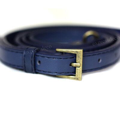 Anse Bleu cuir surpiqué bandouliere sac 123 cm Sangle Simili Poignee cabas