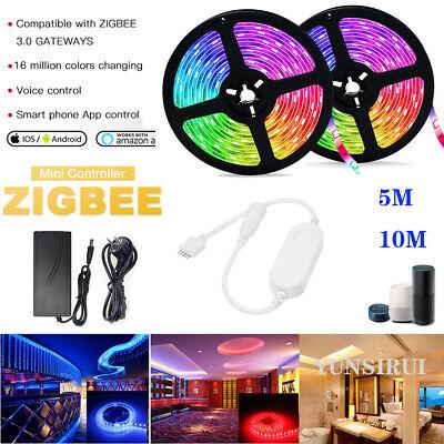 5M 10M ZIGBEE ZLL Smart Controller 12V 24V 5050 RGBW//RGBWW Flexible LED Streifen