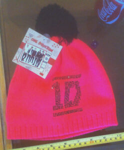 One-Direction-1D-Pink-Warm-Bobble-Hat-Claire-039-s-Claires-Accessories-12-RRP