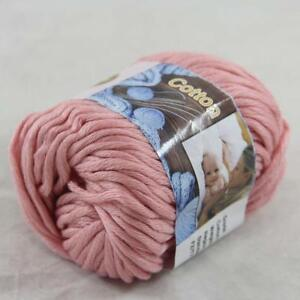 1BallX50g Special Thick Worsted 100/% Cotton HAND Knitting Yarn 45 Pink White