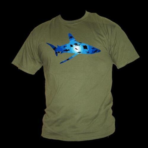 Erhaltung T-Shirt Herren Red Sea T-Shirt Ozeanisch Weiß Spitze Hai Schwarm