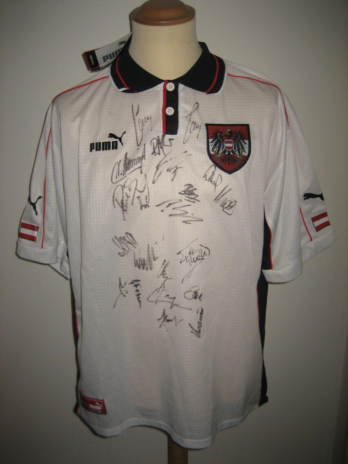 Autria SIGNED Osterreich football shirt soccer jersey trikot fussball Dimensione XL