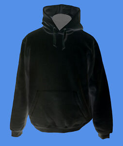 Hoody-Kapuzenpullover-B-amp-C-Rohware-unbedruckt-blanko-schwarz-XS-S-M-L-XL