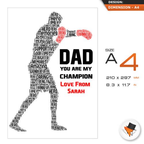 Personalised Christmas Dad Gifts Daddy Father Him Framed Best Card Boxing