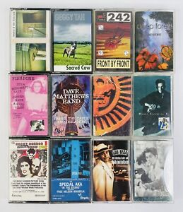 Lot Of 12 Vintage Cassette Tapes - Various Genres (Lot #4)