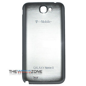 promo code 6a816 6c4ba Details about Genuine Samsung Galaxy Note 2 II T889 T-Mobile Grey OEM Back  Cover Battery Door