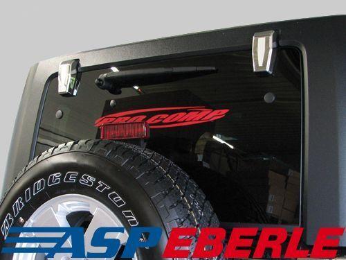Heckklappenblenden für Hardtop Chrom Jeep Wrangler JK