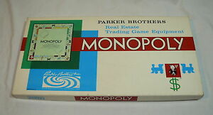 1961 MONOPOLY BOARD GAME - CLASSIC FAMILY FUN COMPLETE - REAL ESTATE TRADING