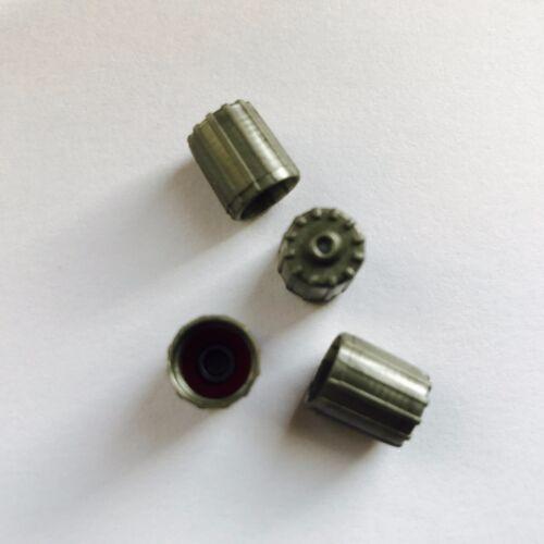 Pneu valve caps poussière couvre-voiture vélo-argenté hd air seal set de 4 pneu
