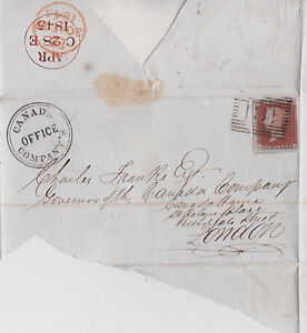 GB-QV-1845-WRAPPER-PENNY-RED-1d-IMPERF-039-GA-039-TO-CANADA-OFFICE-COMPANY-LONDON