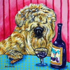 Soft-Coated-Wheaten-Terrier-wine-bar-dog-art-tile-coaster-gifts