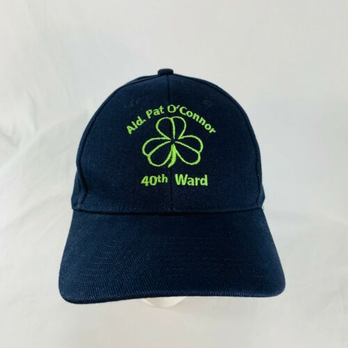 Pat O'Connor 40th Ward Blue Canvas Clover Leaf Hat