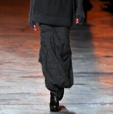 RICK OWENS fuzzy silk fur long tapered FW12 Mountain runway Pillar skirt 40 NEW