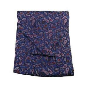 Italy Uomo Uomo Cashcol Blu Blue Blau Ascot Dis Made Foulard Cashmere Seta Paisley Seta A4wqZH