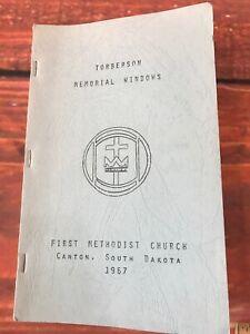 Canton-SD-Methodiste-Eglise-Vtg-Histoire-Livre-Vitrail-Reinhart-Winona-Mn