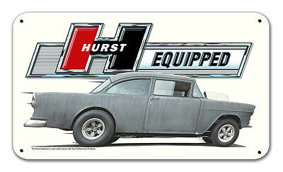 Hurst Equipped shifter Vintage Metal Sign 22x12.75 Two Lane Blacktop 1955 Gasser