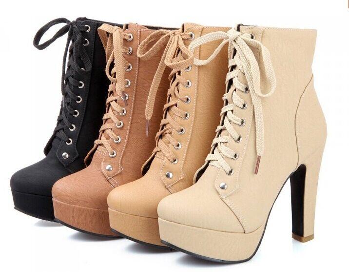 Bottes hiver beige chaussures pour femmes talon 11 cm comme cuir 8784