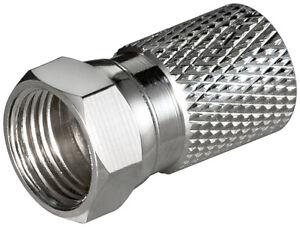 10-x-Conector-F-Cobre-niquelada-para-cable-exterior-8-2-mm-0-Anillos